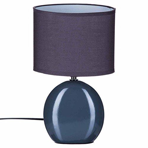 Paris Prix Atmosphera Créateur d'intérieur - Lampe à Poser Ovale Céramique 31cm Gris