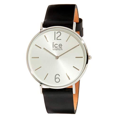 Ice-Watch - CITY tanner Black Silver - Reloj nero para Hombre (Unisex) con Correa de cuero - 001514 (Medium)