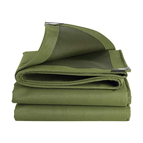 Afdekzeil 600g/m2 Groen - Dekzeil - Afdekhoes - Zware Kwaliteit, voor Tuinmeubilair, Zwembad, Vrachtwagen (5 * 6m)