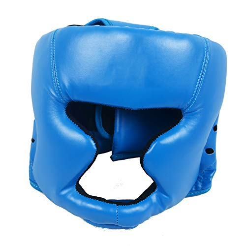 Wuudi - Copricapo da Boxe, per Boxe, MMA, UFC, Blue, Taglia Unica