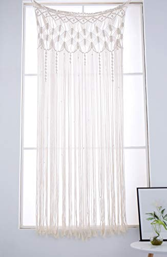 Macrame Window Curtain Panels Woven Tapestry Room Divider Door Curtains, Boho...