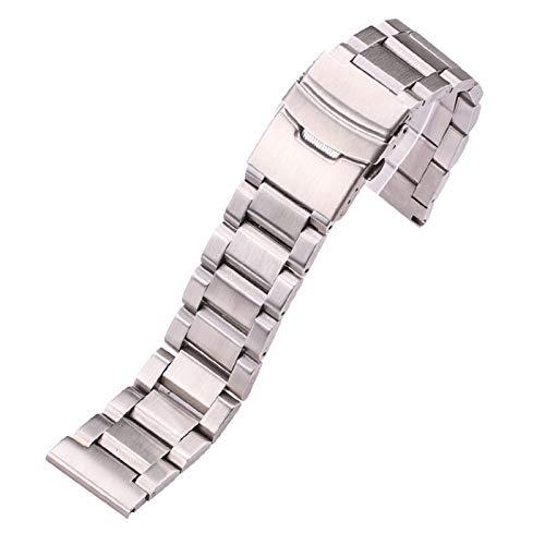 WNFYES Reloj Pulsera de Acero Inoxidable de 18 mm 20 mm 22 mm 24 mm Reloj del Metal del Acoplamiento de la Correa Bandas Azul Negro Oro Ver Accesorios Relojes Correas