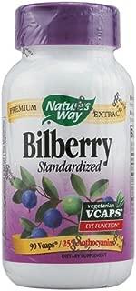 NATURE'S WAY BILBERRY STANDARDZ EXTR, 90 VCAP