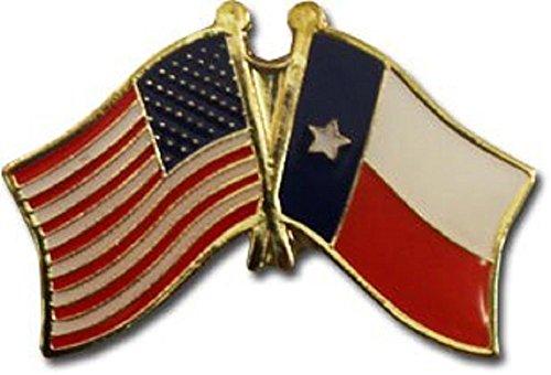 Wholesale Pack of 50 USA American State Texas Flag Bike Hat Cap lapel Pin