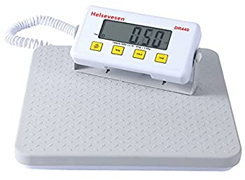 Helsevesen Slimline Digital Professional Physician Scale -440 lb Capacity W/Remote Display Medical Floor Scale Home Healthcare Scale