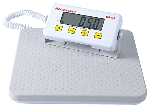 Helsevesen Slimline Digital Professional Physician Scale -440 lb Capacity W/Remote Display, Medical Floor Scale, Home Healthcare Scale
