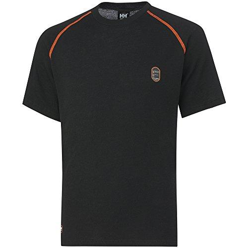 Helly Hansen Workwear Multinorm Shirt Fakse T, flammhemmendes antistatisches Arbeitsshirt, Größe XL, schwarz, 75068