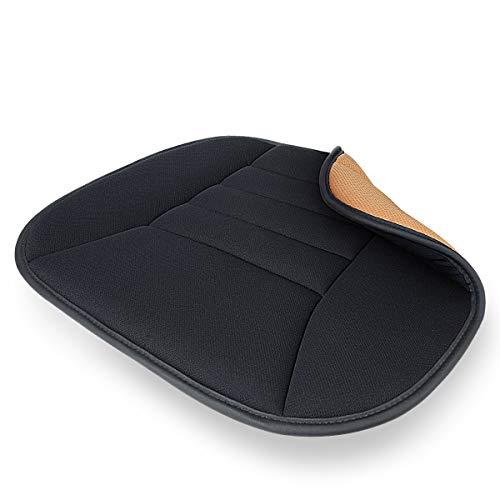 EASY EAGLE Auto sitzkissen mit Memory Schaum, Sitzauflage Auto, Rutschfes Sitzbezüge Auto für Komfortable Unterstützung - Schwarz, 1 Pack