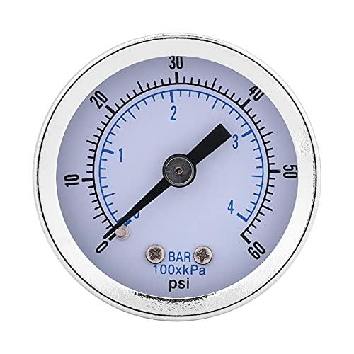 JINGERL Manomètre de Pression hydraulique 0-60PI 0-4bar 1/8'manomètre de jauge de Pression BSPT pour l'huile d'eau
