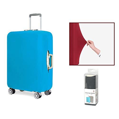 Dabuty Online, S.L. Funda para Maleta. Cubierta Protector de Equipaje Color Azul. Medidas 53x35x25 cm.