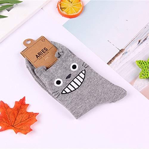 CNBB Socken Mein Nachbar Totoro Socken Kein Gesicht Katze Lustige Mode Niedlichen Cartoon Frauen Socke Frühling Herbst Komfort Glücklich Baumwollsocken