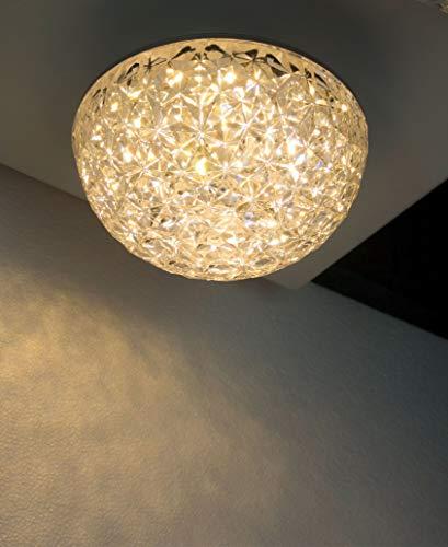 Plafón LED, (Ø12cm 10W 3000K), lampara de techo, redondo, diseño clasico, forma semiesferica, elegante y simple, difusor de metacrilato. Luz de Techo para Comedor, dormitorio, recibidor, pasillo, etc.