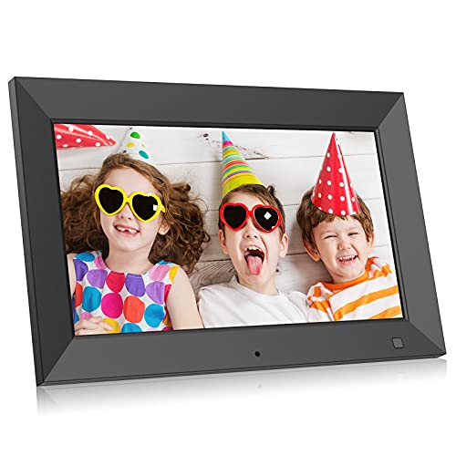 BSIMB 10.1 Inch Digital Picture Frame, Electronic Photo Frame with HD Display - Videos/Photos Slideshow, Portrait or Landscape, Wall-Mountable, Motion Sensor, Support USB Drive/SD Card M10