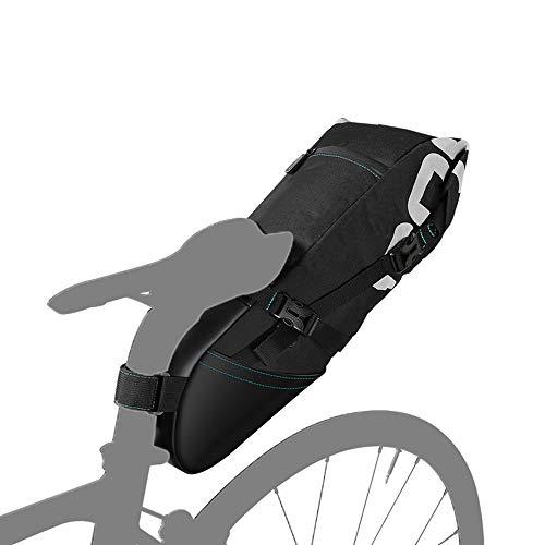 WY-AYNG Sillín de Bicicleta 8L / 10L (Asiento Trasero) con Apertura Enrollable...
