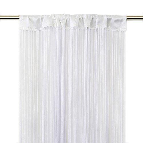 Victoria M. Leonora Cortina de Hilos 100 x 245cm, Blanco | Set de 2