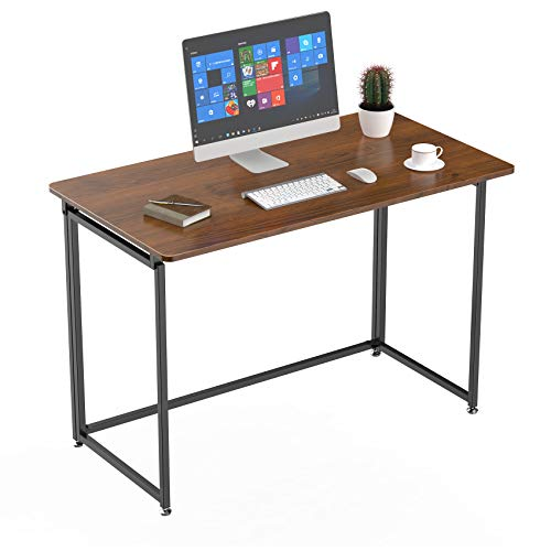Eureka Ergonomic 43 inch Folding Computer Desk Home Office PC Table Foldable Writing School Desk No Assembly Required, Cherry