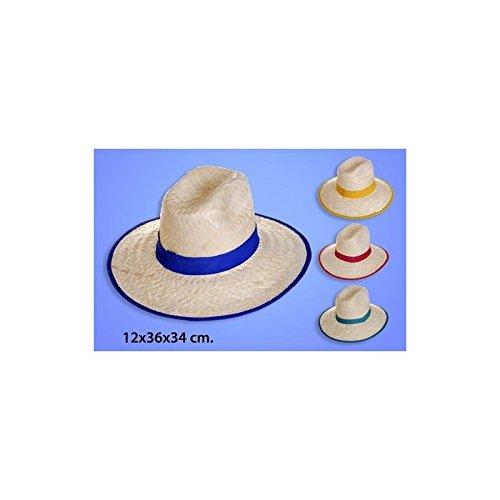 Sombrero Cintas y Ribetes de Colores Surtidos, HERSIGRIM, 12x36x34cm.