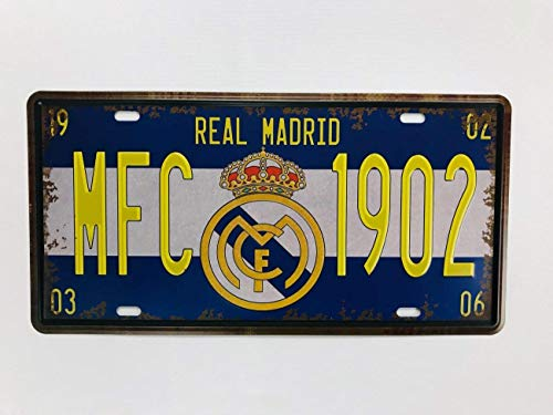 2158 Plaque dimmatriculation en métal - Souvenir (Real Madri