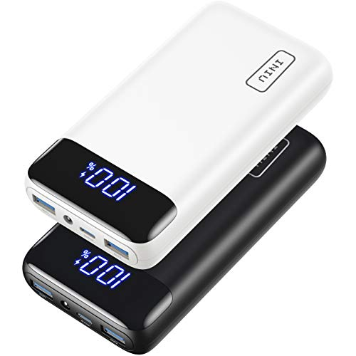 [2 Pack] INIU Portable Charger, 20W PD QC Fast Charging 20000mAh LED Display Power Bank External Battery Pack Compatible with iPhone 12 11 Pro X 8 Plus Samsung S20 Google LG AirPods iPad Tablet etc.