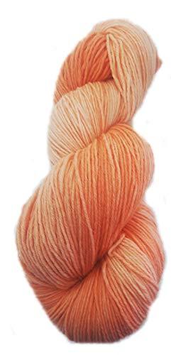 Sockenwolle handgefärbt 6fädig 150 g ca 420 m 75% Wolle/25% Polyamid - rust