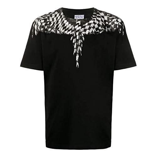 MARCELO BURLON Luxury Fashion Uomo CMAA018F20JER0031010 Nero Cotone T-Shirt | Autunno-Inverno 20