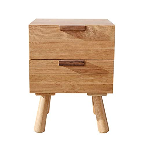 Buy Discount Cvmnkljfger Small Nightstand Bedside Table End Table White Oak Wood Bedside Stand Drawe...