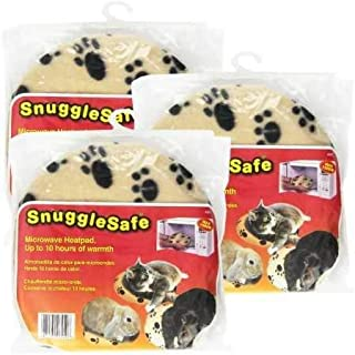 SnuggleSafe 3 Pack Pet Heating Pad w/Pet Bowl | Snuggle Safe Pet Bed Microwave Heating Pad