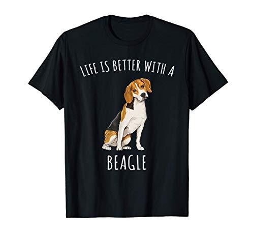 La Vita è Migliore Con Un Cane Beagle Maglietta