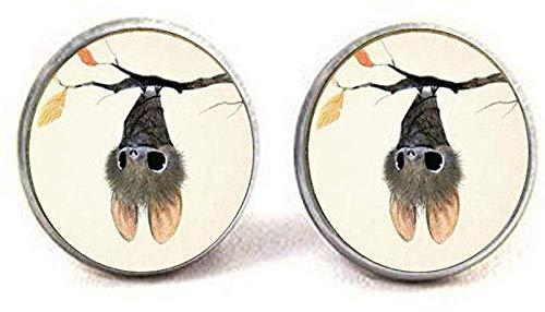 Niedliche kleine Fledermaus-Ohrringe, Halloween-Schmuck, Freundin, Geschenk, Kunst, Bildschmuck