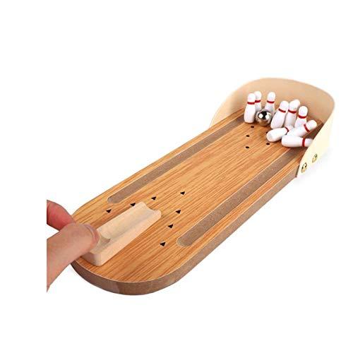 REWD Holz Tisch Bowling Spiel Holztisch Bowling-Spiel Indoor Bowling Set Desktop-Bowling Spiele for Kinder, Best Home Bowling Ball-Spiel for Familie