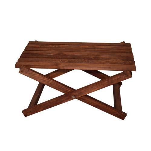 QLS Tafel koffietafel tuintafel houten tafel geïmpregneerd CAMPINGTafel 60 x 43 x 29 cm