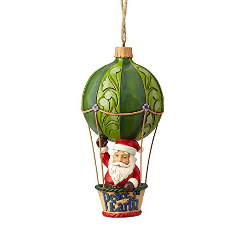 Heartwood Creek Santa In Hot Air Balloon Hanging Ornament