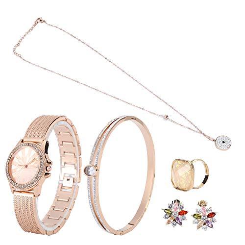 Juego de reloj y pulsera, juego de reloj y brazalete, juego de reloj, sin plomo para novias, bodas de damas de honor, bailes, eventos