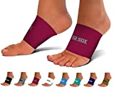 SB SOX Compression Arch Sleeves for Men & Women - Perfect Option to Our Plantar Fasciitis Socks - for Plantar Fasciitis Pain Relief and Treatment for Everyday Use with Arch Support (Pink, Medium)