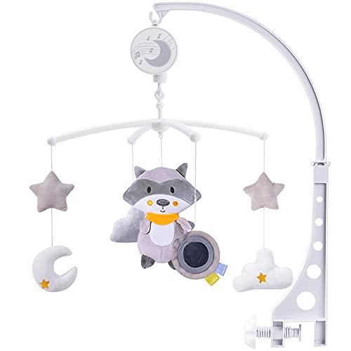 McNory Baby Mobile per culle con Musica,Mobile Giostrina Culla Neonato,Bear Music Box Mobile con Musica Rilassante, Sonagli sospesi