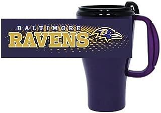 Omega NFL Baltimore Ravens Roadster Plastic Travel Mug, 16 Ozroadster Plastic Travel Mug, 16 oz, Purple, 16 oz