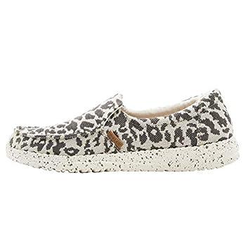 Hey Dude Women s Misty Woven Cheetah Grey Size 8