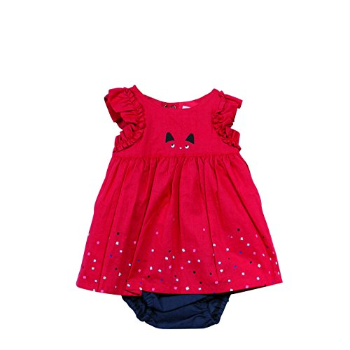 Catimini Robe en percale fantaisie Rouge (Rouge) - 2 ans (Taille fabricant: 2 ans)