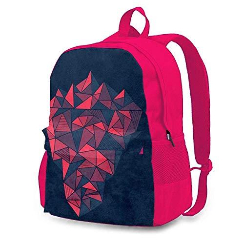 Geometric Iceberg Adult Classic Rucksack Outdoor Freizeit Rucksack Studententasche Pink