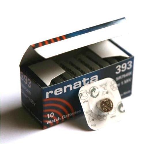 Renata 393 Lithium-Knopfzelle SR754W, hergestellt in der Schweiz