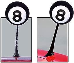Black White 8 Ball Little Cute Cartoon Doll Antenna Balls Eva Foam Aerial Toppers Decoration Car Styling Roof
