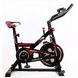 WJFXJQ Spin Bike Ejercicio Bicicleta Interior Ultra Silent Belt Drive Cardio Workout Machine Vertical Bike Home Gym 385 lbs MAX Peso (Color : Red)