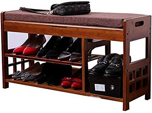 ZXCN Zapatero Europeo Cambio de Zapatero Taburete Simple Moderno Taburete Final de Cama Puede Sentarse Taburete de Zapatos Banco de Almacenamiento de Zapatos de Madera Maciza