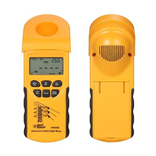 liuchenmaoyi Metalldickenzähler Ultraschallkabel Höhenmesser 6 Kabel Messung LCD-Display Messbereich (Höhe 3-23m, Ebene 3-15m) AR600E Dickenzähler