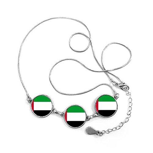 Verenigde Arabische Emiraten Nationale Vlag Azië Land Symbool Mark Patroon Ronde vorm Hanger Ketting