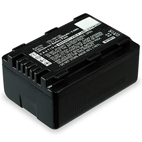 subtel® Batería Compatible con Panasonic HC-V727 V100 HC-VX878 HDC-SD90 SD40 SD60 HDC-SDX1 HDC-HS60 HDC-TM60 SDR-H85 SDR-S50 S70, VW-VBK180 -VBK360 VW-VBL090 1500mAh VW-VBK180 Pila Repuesto