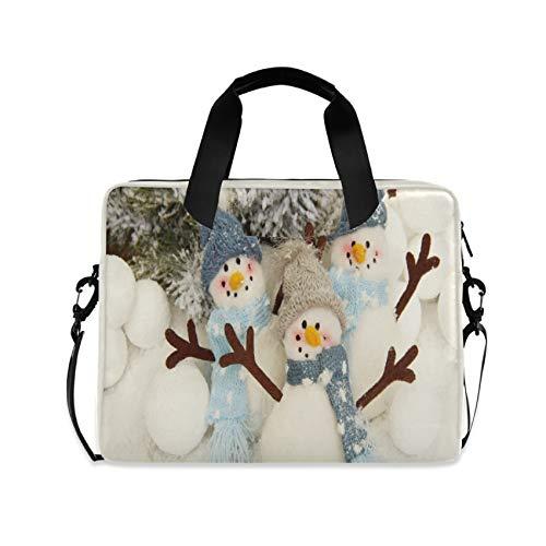 Christmas Snowman Gesture 16 inch Laptop Shoulder Bag Travel Laptop Briefcase Carrying Messenger Bags