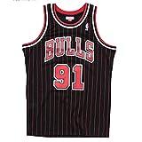 KKSY Trikot Chicago Bulls 91# Dennis Rodman Jerseys Atmungsaktives Basketball Swingman Tanktop,B,XL