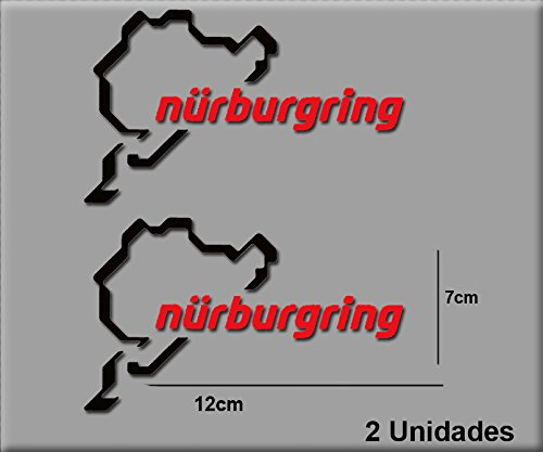 Ecoshirt 0E-CAFR-OXFS Aufkleber Nürburgring R82 Vinyl Aufkleber Decal Sticker Decal Decal Sticker Car Auto Sport Racing Schwarz Rot