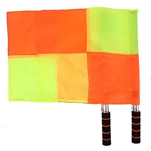 Acouto Schiedsrichterfahnen, 2PCS Schiedsrichter Flag Schiedsrichter Linienrichter Flagge mit Aufbewahrungstasche für Sport Fußball Fußball Hockey Training